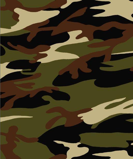 CCA18202-607I/06OLIVE/BLK/BRN / Rayon/Span Jersey W/Camouflauge Print Design,
