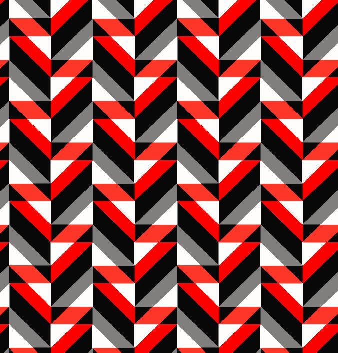 AC18026-792BR-I/17RED/BLK / Brushed DTY W/Multicolor Geometric Design,