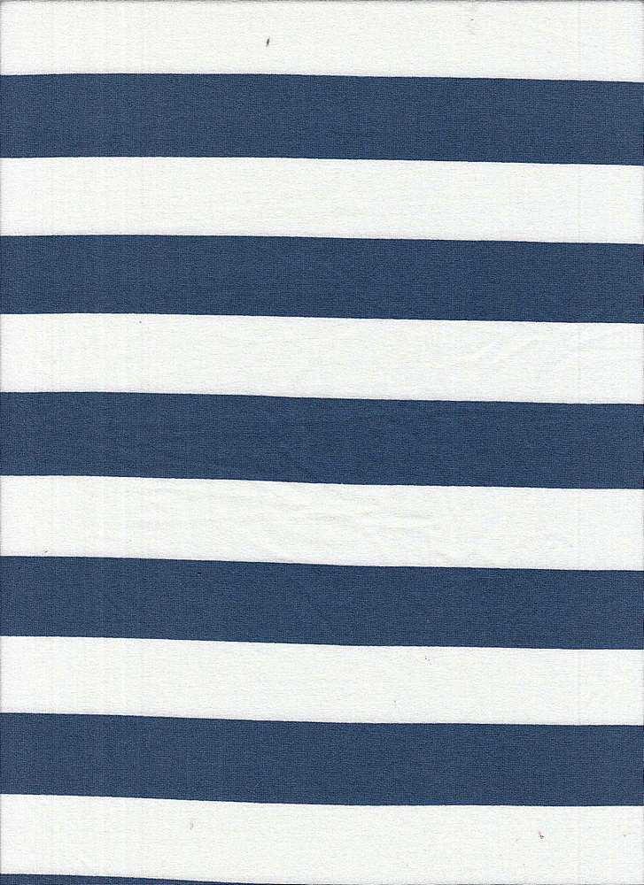 6619-792BR-I/DENIM/IVORY / Poly Span Brushed Dty With 1x1 Inch Stripe Print
