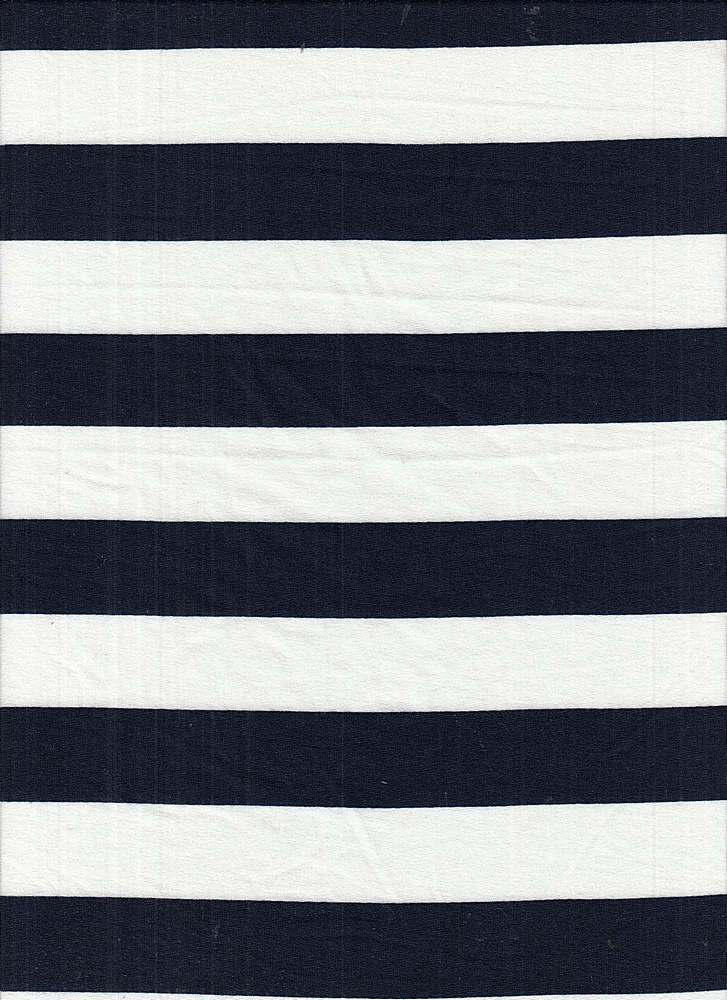 6619-792BR-I/NAVY/IVORY / Poly Span Brushed Dty With 1x1 Inch Stripe Print