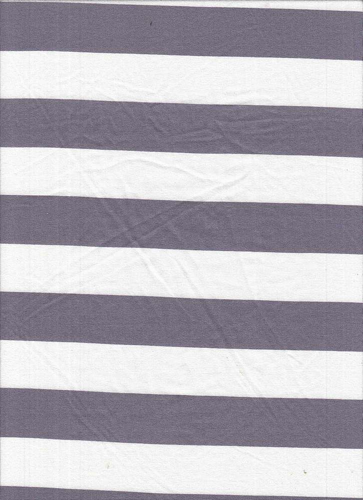 6619-792BR-I/LAVENDER HAZE / Poly Span Brushed Dty With 1x1 Inch Stripe Print