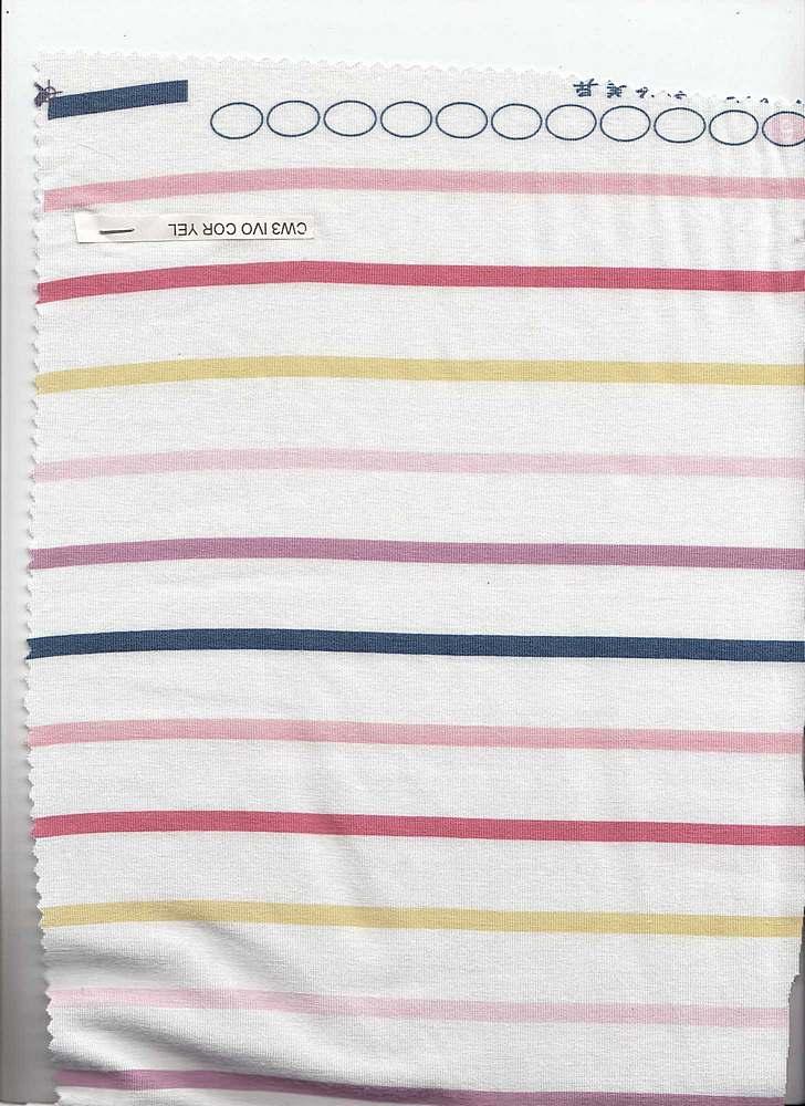 J199203-607I/03IVOR/COR/YELLW / Jerz W/PTD Thick&Thin Multicolor Stripe Design,