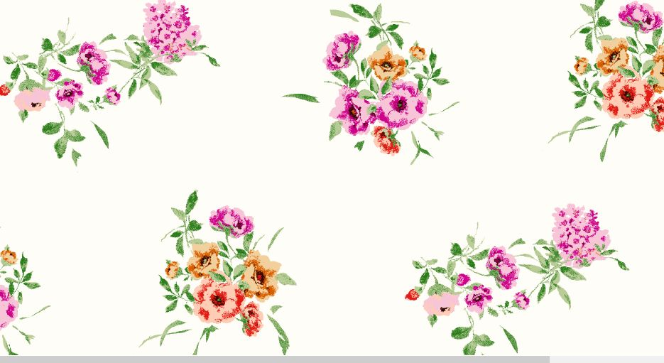 H191137-792BR-I/8IVO/FUCH/RED / BRUSHED DTY W/Ditsy Flower Design,