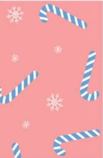 G209474-792BR-I/05CORAL/IVORY/BLUE / PS Brushed Dty With Holiday Candy Cane Print