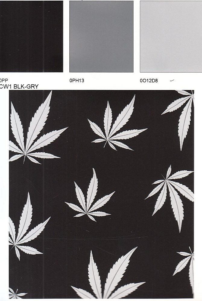 D219690-792BR-I/01BLACK/GREY / Brushed Dty With Cannabis Conversational Print
