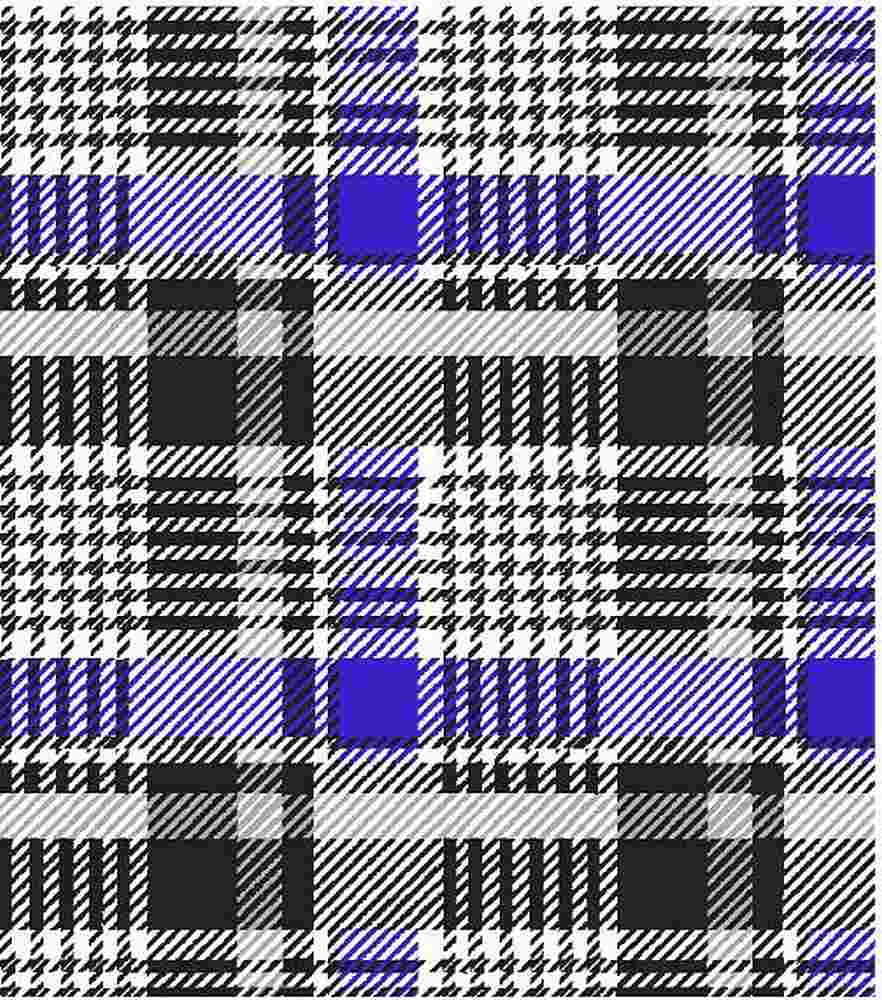 D219705-792BR-I/10BLK/ROYAL/GRAY / Brushed Dty With HOUNDSTOOTH PLAID DESIGN